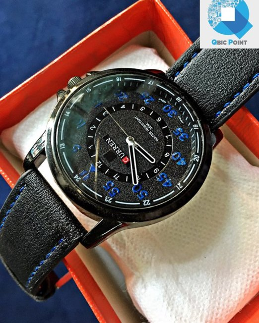 CURREN-Black-Blue-Wrist-Watch-1