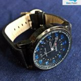 CURREN Black & Blue Wrist Watch