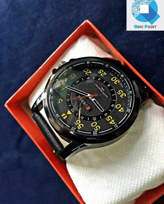 CURREN-Black-yellow-Wrist-Watch-1