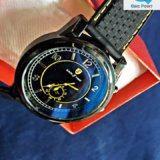 EAGLE TIME Black & Yellow Wrist Watch