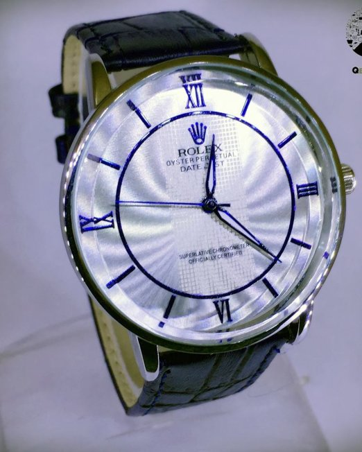 ROLEX Blue & Silver Wrist Watch