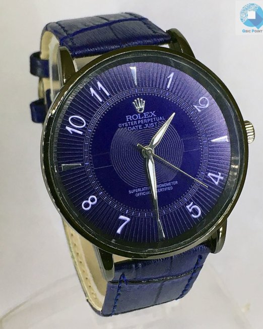 ROLEX Blue Wrist Watch