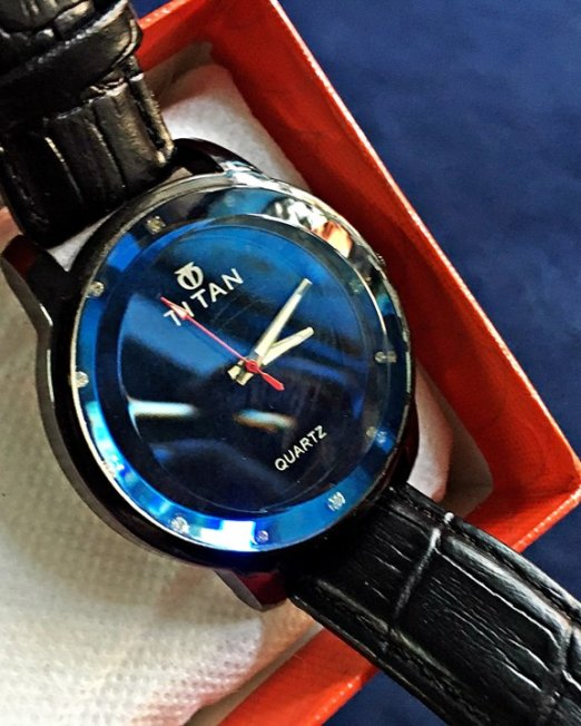 TITAN Black Wrist Watch